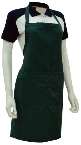 Custom Made Apron Dark Green