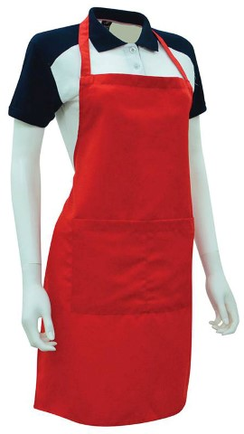 Custom Made Apron Red