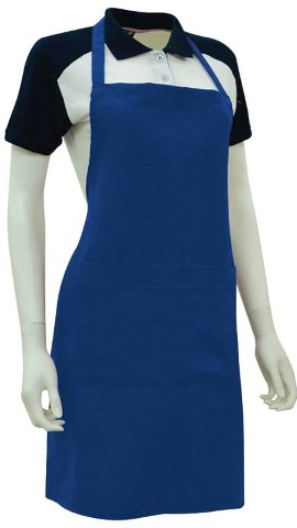 Custom Made Apron Royal Blue