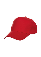 Cap Baseball 5 panel Red