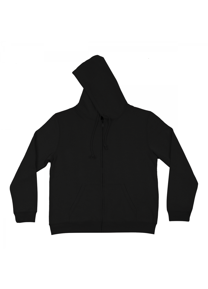 Hoodie with Zip Black