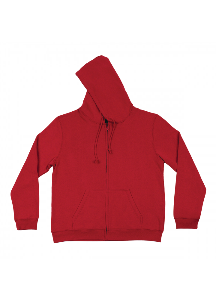 Hoodie with Zip Red