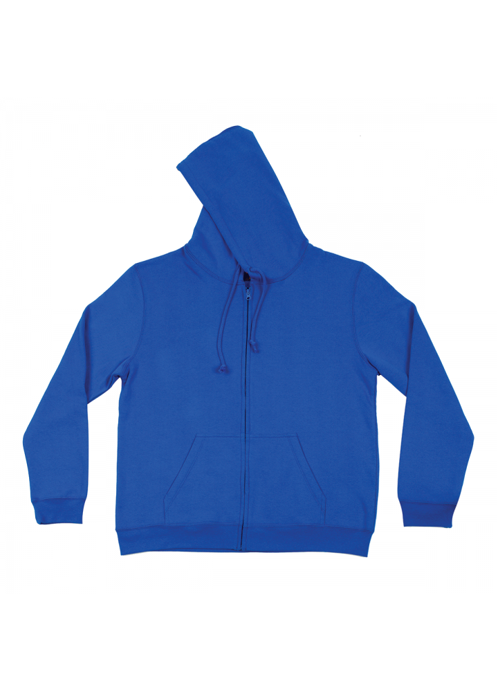Hoodie with Zip Blue