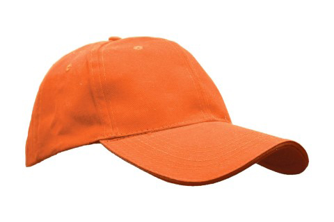 baselball 5 panel cap orange