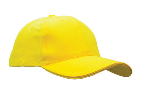baselball 5 panel cap yellow