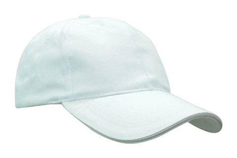 baselball 5 panel cap white
