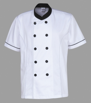 Chef Uniform White Black
