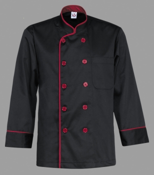 Chef Uniform Black Maroon