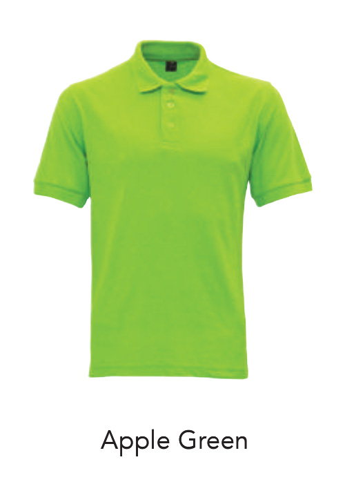 Collar Shirts Polo Apple Green