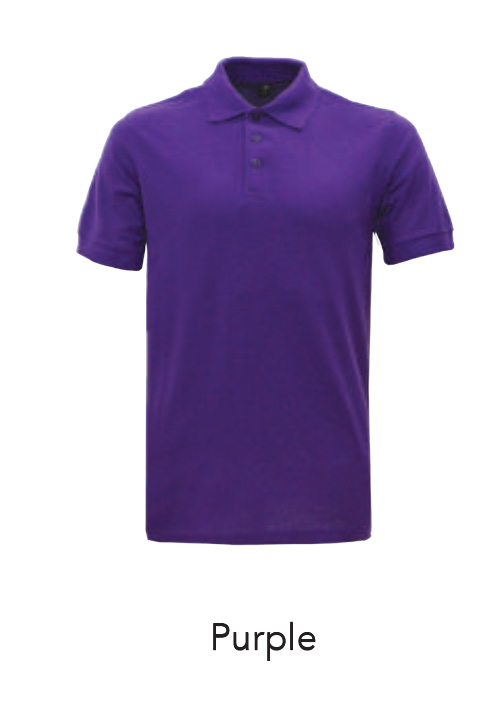 Collar Shirts Polo Purple