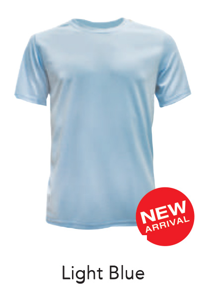 Ready Made Microfiber Tshirt Light Blue