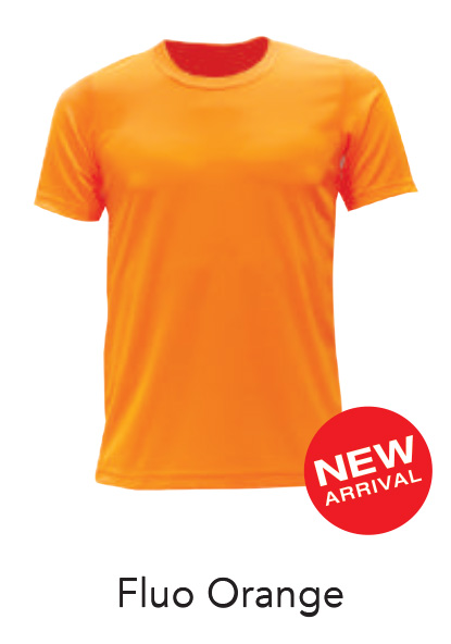 Ready Made Microfiber Tshirt Fluo Orange
