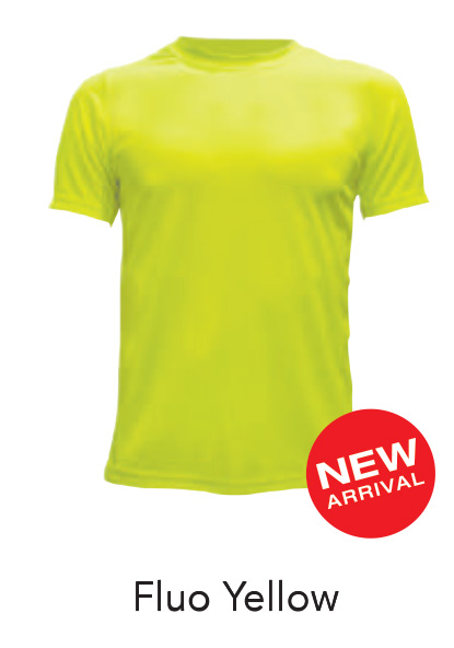 Ready Made Microfiber Tshirt Fluo Yellow