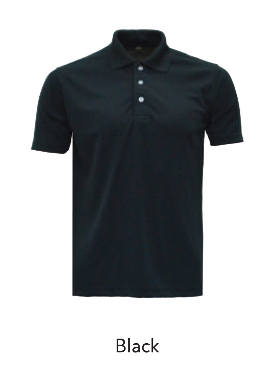 Microfiber Polo Shirts Black