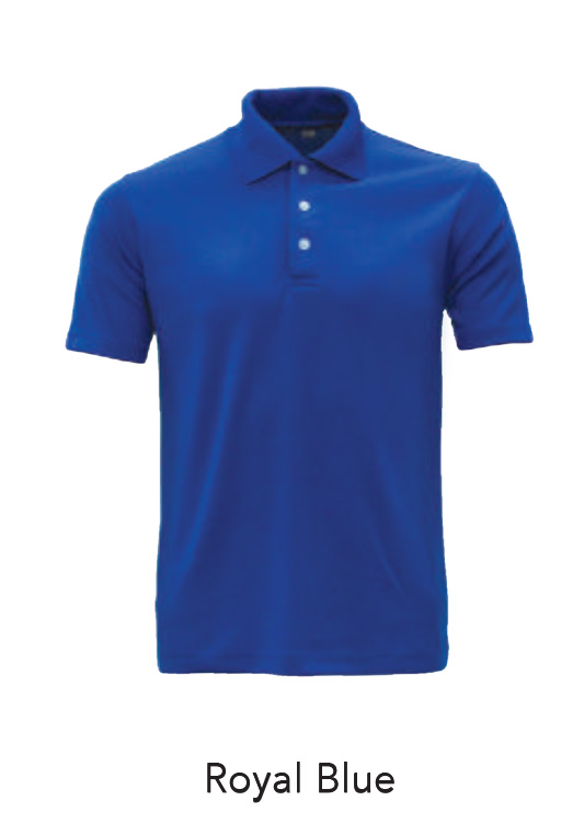 Microfiber Polo Shirts Royal Blue