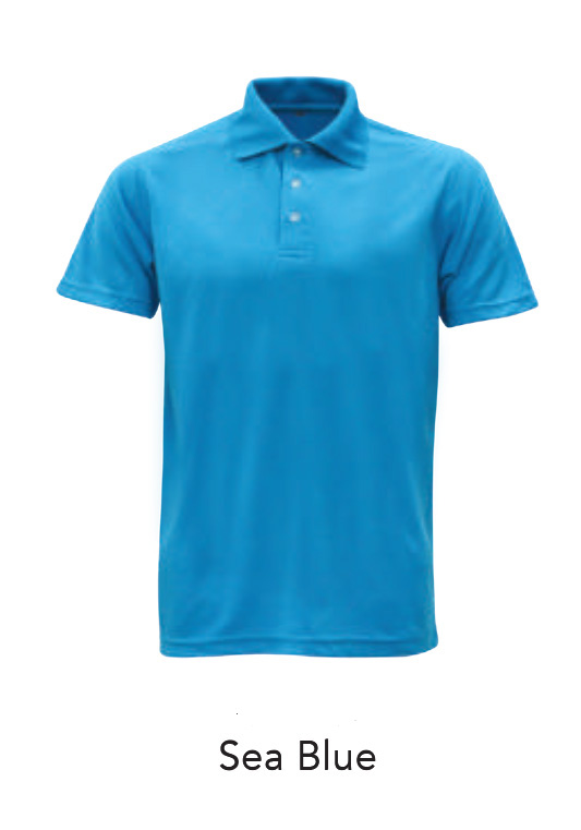Microfiber Polo Shirts Ssea Blue