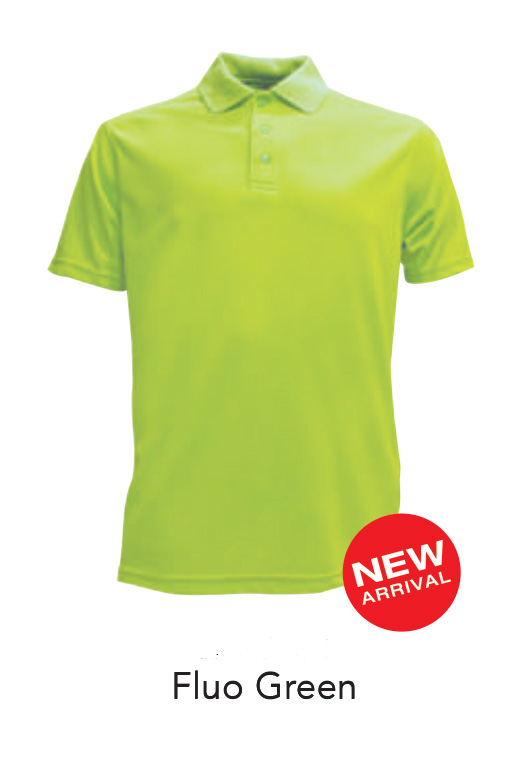 Ready Made Microfiber Polo Shirts Fluo Green