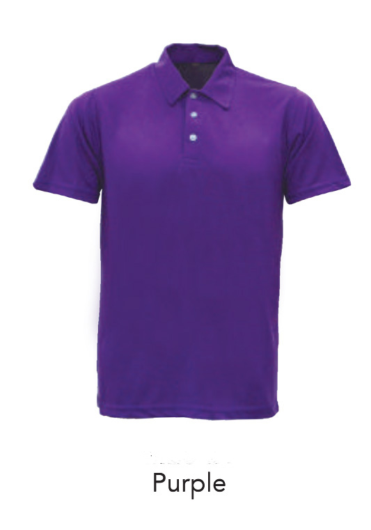 Microfiber Polo Shirts Purple