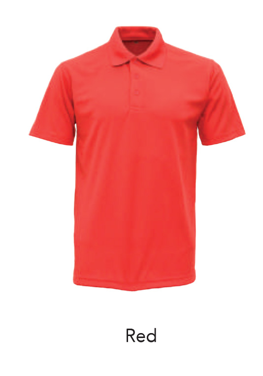 Microfiber Polo Shirts Red