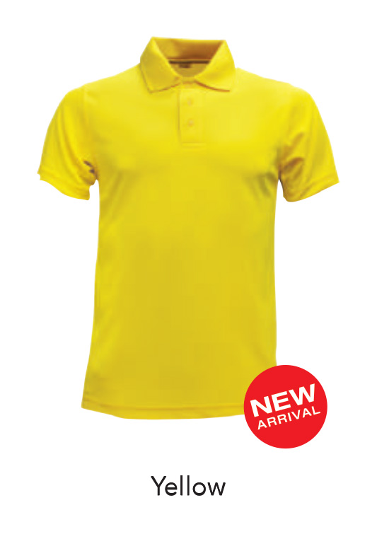 Ready Made Microfiber Polo Shirts Yellow