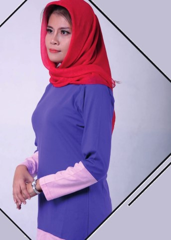 Muslimah Ladies Long Sleeve Round Neck 9820