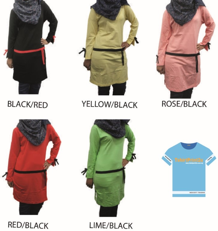 Muslimah Ladies Long Sleeve Round Neck 9818 Design