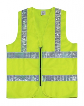 Safety Vest with zip Yellow