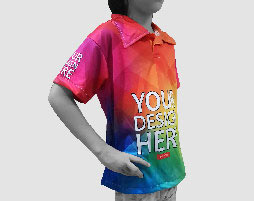 sublimation polo tee kids