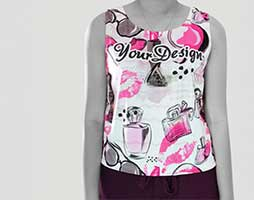 ladies polyester t shirts