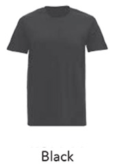 Tshirt Round Neck Black
