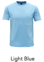 Tshirt Round Neck Light Blue
