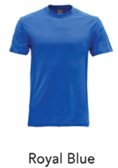 Tshirt Round Neck Royal Blue