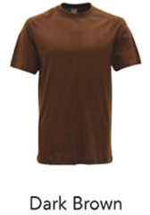 Tshirt Round Neck Dark Brown