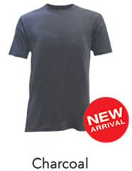 Tshirt Round Neck Charcoal