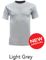 Tshirt Round Neck Light Grey
