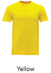 Tshirt Round Neck Yellow